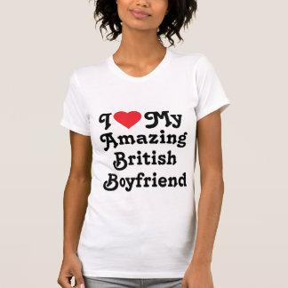Amo a mi novio británico asombroso camiseta