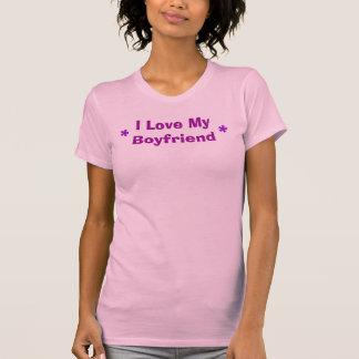 Amo a mi novio, *, * camiseta