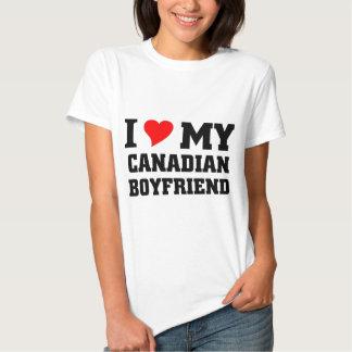 Amo a mi novio canadiense camiseta