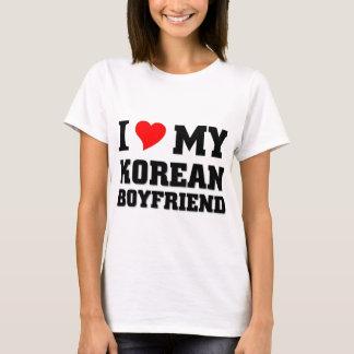 Amo a mi novio coreano camiseta