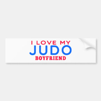 Amo a mi novio del judo pegatina para coche