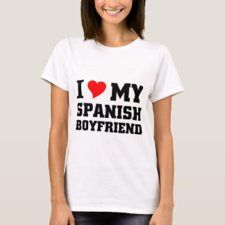 Amo a mi novio español camiseta