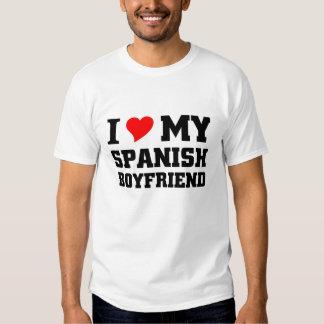 Amo a mi novio español camisetas
