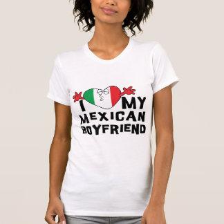 Amo a mi novio mexicano camisetas