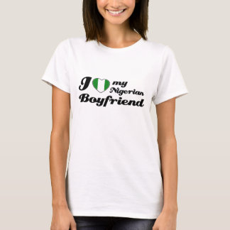 Amo a mi novio nigeriano camiseta