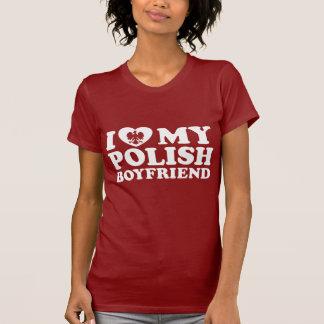 Amo a mi novio polaco camiseta