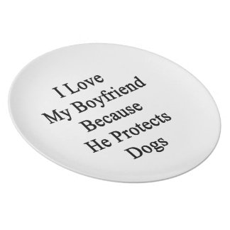 Amo a mi novio porque él protege perros platos para fiestas