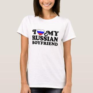 Amo a mi novio ruso camiseta