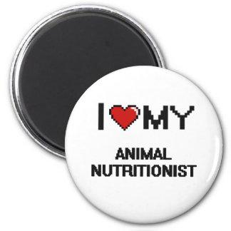 Amo a mi nutricionista animal imán redondo 5 cm