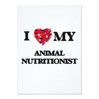 Amo a mi nutricionista animal invitación 12,7 x 17,8 cm