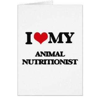 Amo a mi nutricionista animal felicitación