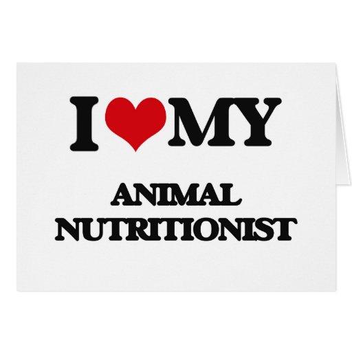 Amo a mi nutricionista animal tarjeta