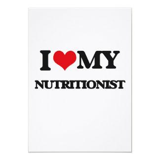 Amo a mi nutricionista invitación 12,7 x 17,8 cm