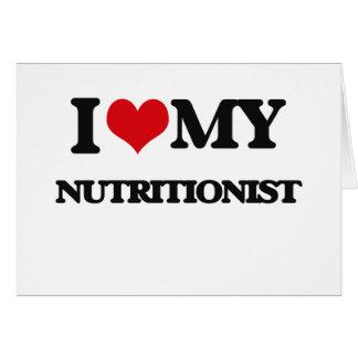 Amo a mi nutricionista tarjeton