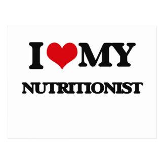 Amo a mi nutricionista postales