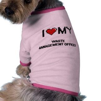 Amo a mi oficial de la gestión de desechos camiseta con mangas para perro