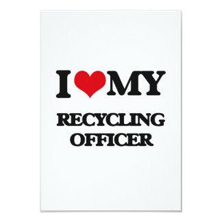 Amo a mi oficial de reciclaje invitación personalizada
