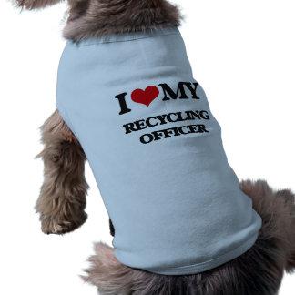 Amo a mi oficial de reciclaje camiseta sin mangas para perro
