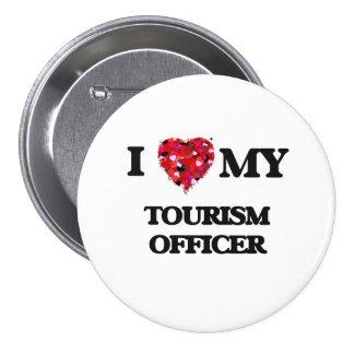 Amo a mi oficial del turismo chapa redonda 7 cm