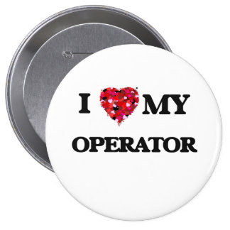 Amo a mi operador chapa redonda 10 cm