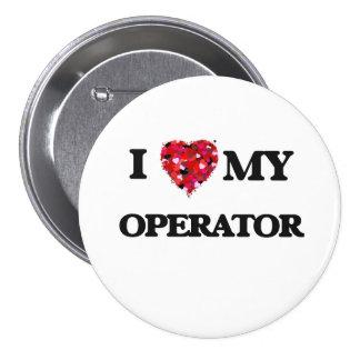 Amo a mi operador chapa redonda 7 cm