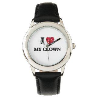 Amo a mi payaso relojes de pulsera