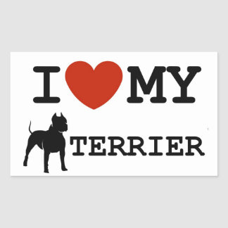 amo a mi pegatina del terrier de Staffordshire