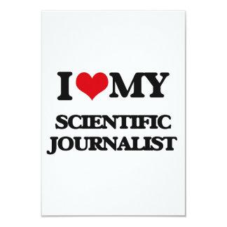 Amo a mi periodista científico invitación 8,9 x 12,7 cm