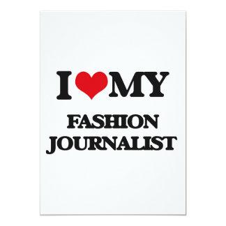 Amo a mi periodista de la moda invitación 12,7 x 17,8 cm