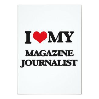 Amo a mi periodista de la revista invitación 12,7 x 17,8 cm