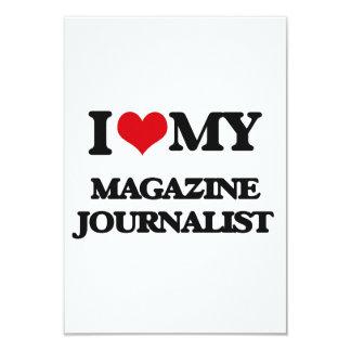 Amo a mi periodista de la revista invitación 8,9 x 12,7 cm
