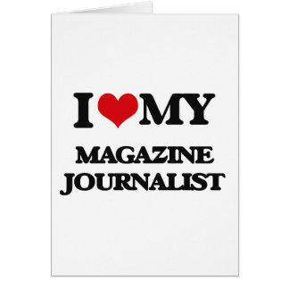 Amo a mi periodista de la revista tarjeta