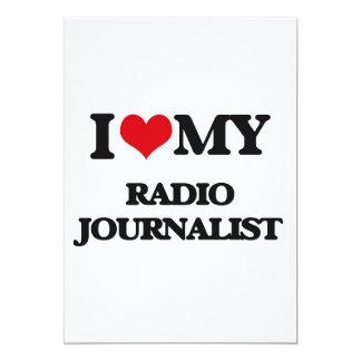 Amo a mi periodista de radio invitación 12,7 x 17,8 cm
