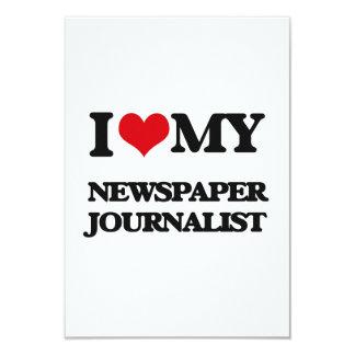 Amo a mi periodista del periódico invitación 8,9 x 12,7 cm