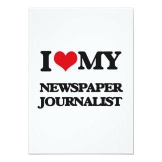 Amo a mi periodista del periódico invitación 12,7 x 17,8 cm