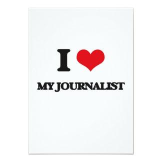 Amo a mi periodista invitación 12,7 x 17,8 cm