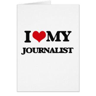 Amo a mi periodista felicitación