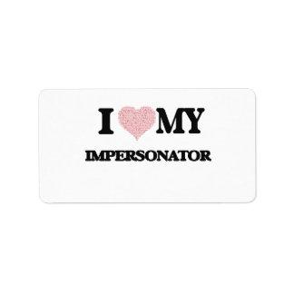 Amo a mi personificador (el corazón hecho de etiqueta de dirección