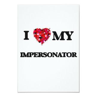 Amo a mi personificador invitación 8,9 x 12,7 cm