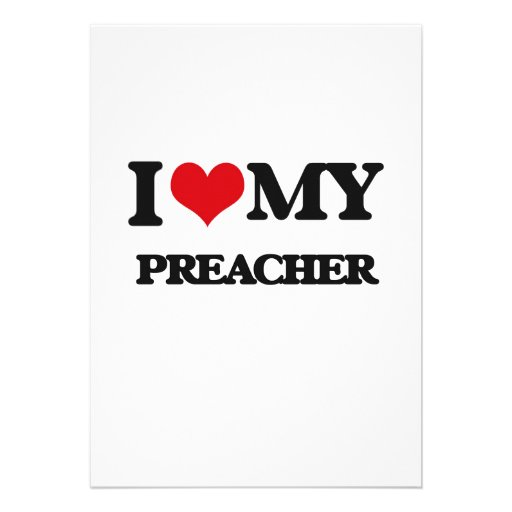 Amo a mi predicador invitacion personalizada