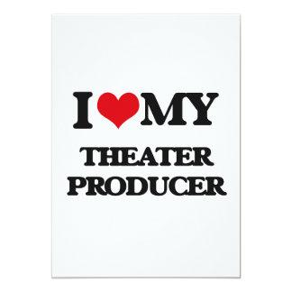Amo a mi productor del teatro invitación 12,7 x 17,8 cm