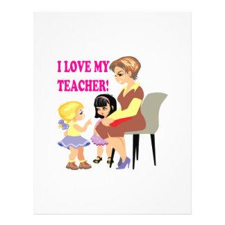 Amo a mi profesor tarjetas publicitarias