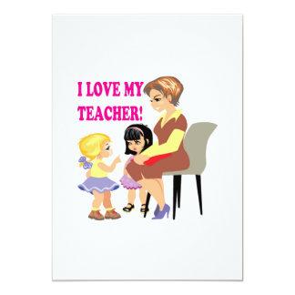 Amo a mi profesor invitación 12,7 x 17,8 cm