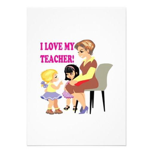 Amo a mi profesor invitación
