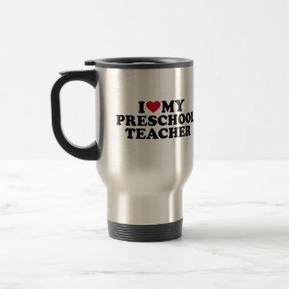 Amo a mi profesor preescolar taza de viaje