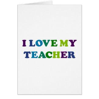 Amo a mi profesor tarjetas
