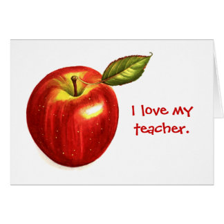 Amo a mi profesor tarjetón
