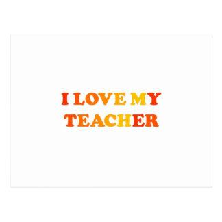 Amo a mi profesor postales