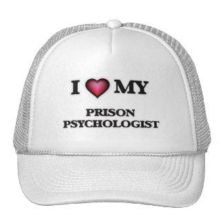 Amo a mi psicólogo de la prisión gorras de camionero