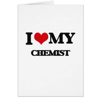 Amo a mi químico tarjeton